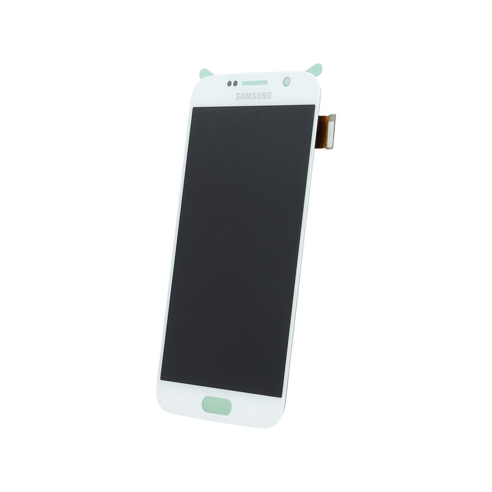 Samsung S6 G920 SM-G920f eredeti LCD kijelző, fehér GH97-17260B
