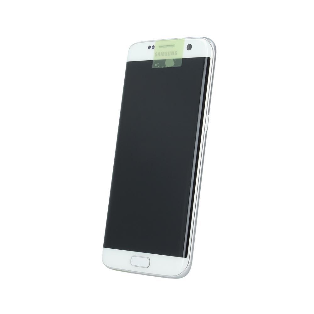 Samsung S7 Edge G935 SM-G935f eredeti LCD kijelző, fehér GH97-18533D+akkumulátor