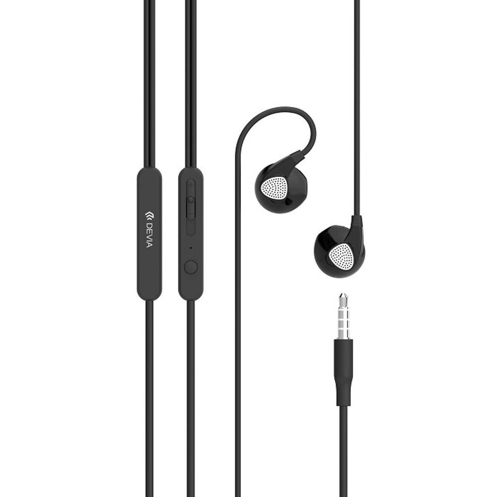 DEVIA D2 Ripple fülhallgató, fekete