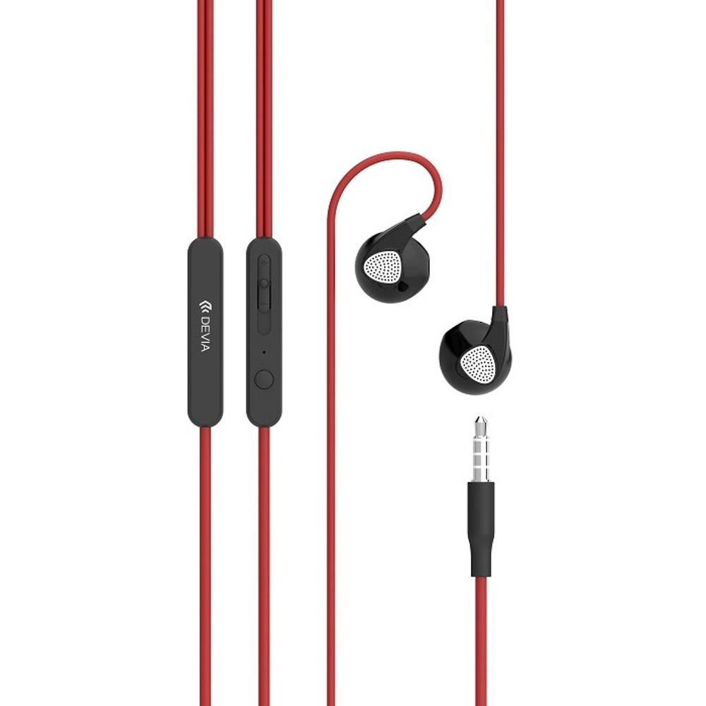 DEVIA D2 Ripple fülhallgató, piros