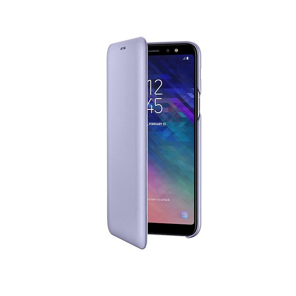 A6 Plus 2018 Samsung pénztárca tok lila