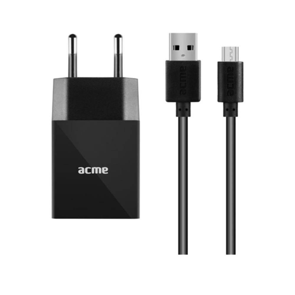 Acme Europe CH211 fali töltő (1 x USB | 2,4 A) + micro-USB kábel