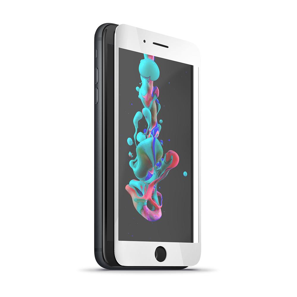 Forever 5D Képernyővédő prémium edzett üveg iPhone 7 / iPhone 8 telefonhoz fehér