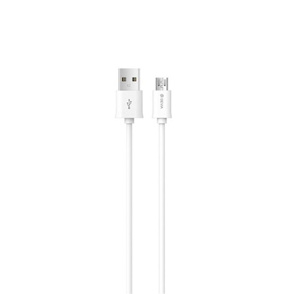 DEVIA Smart micro-USB kábel 1m, fehér