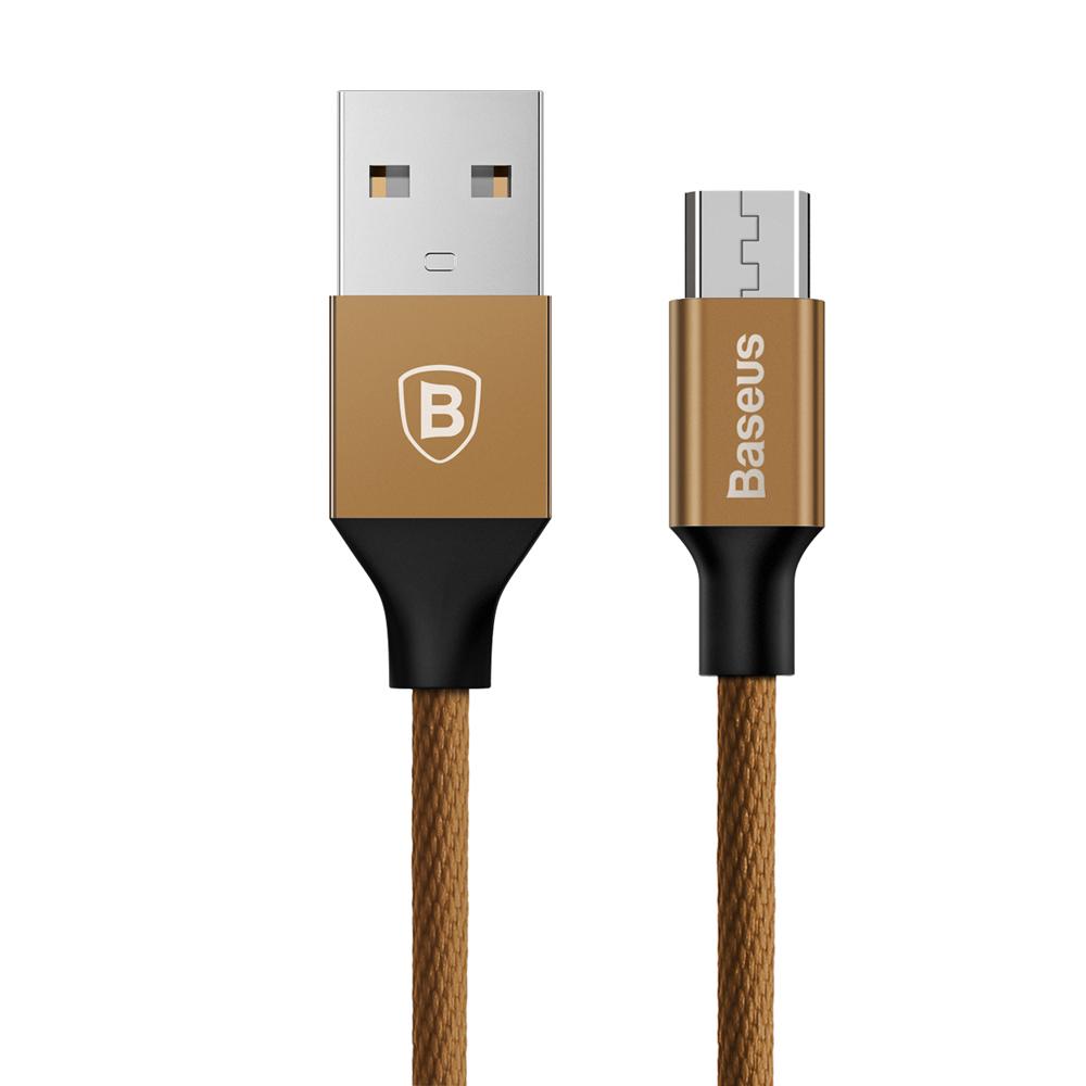 Baseus Yiven kábel (micro-USB | 1,5 m) 2A, kávé barna (CAMYW-B12)