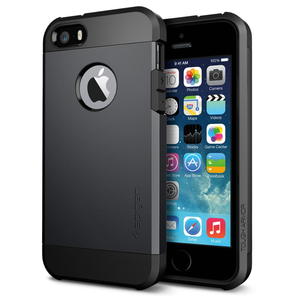 Spigen Tough Armor tok iPhone 5s/ iPhone SE fekete