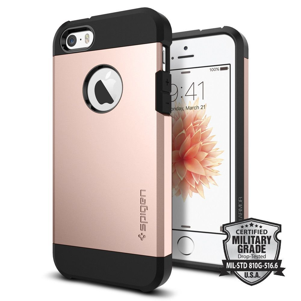 Spigen Tough Armor tok iPhone 5s/ iPhone SE rózsaarany