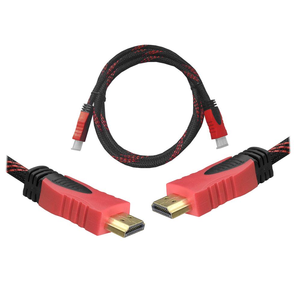 Kábel HDMI-HDMI 1,5m v1.4 piros