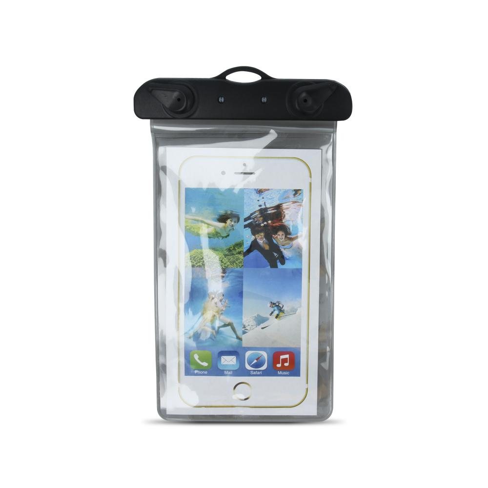 """Vízálló mobiltelefon tok karpánttal 5,5"""" fekete"""
