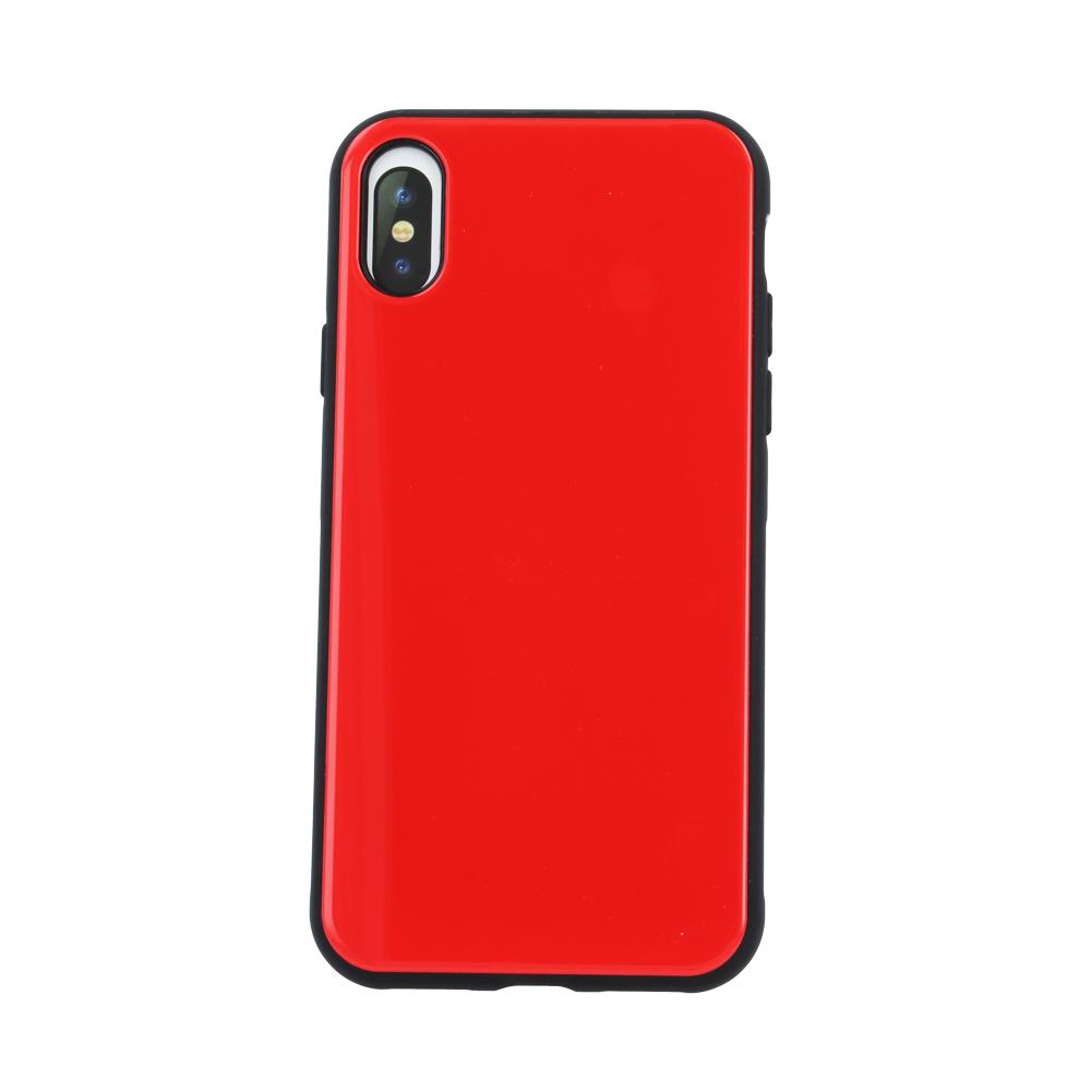 Devia üveg tok iPhone X/ iPhone XS, piros