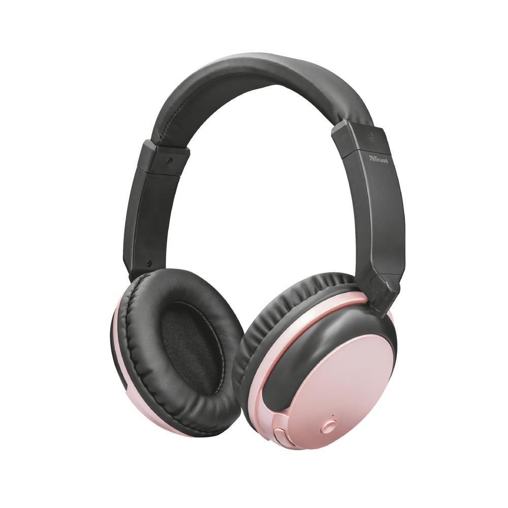 Trust Kodo vezetéknélküli fejhallgató rózsaszín