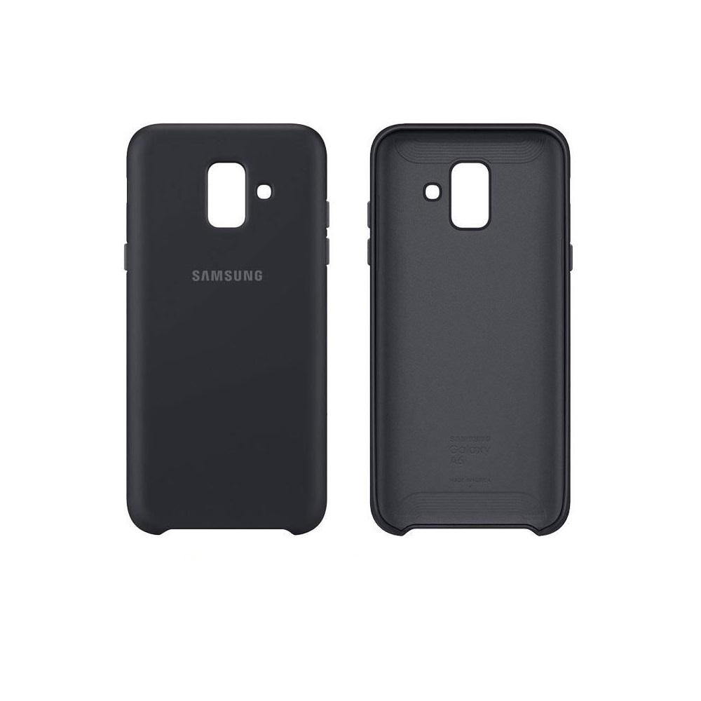 Samsung kétrétegű tok Samsung A6 2018 telefonhoz fekete