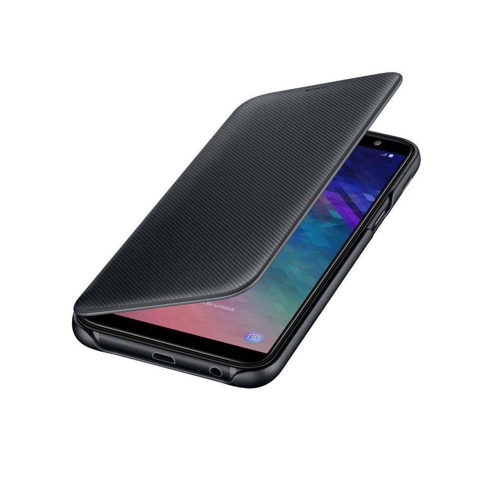 A6 2018 Samsung pénztárca tok fekete