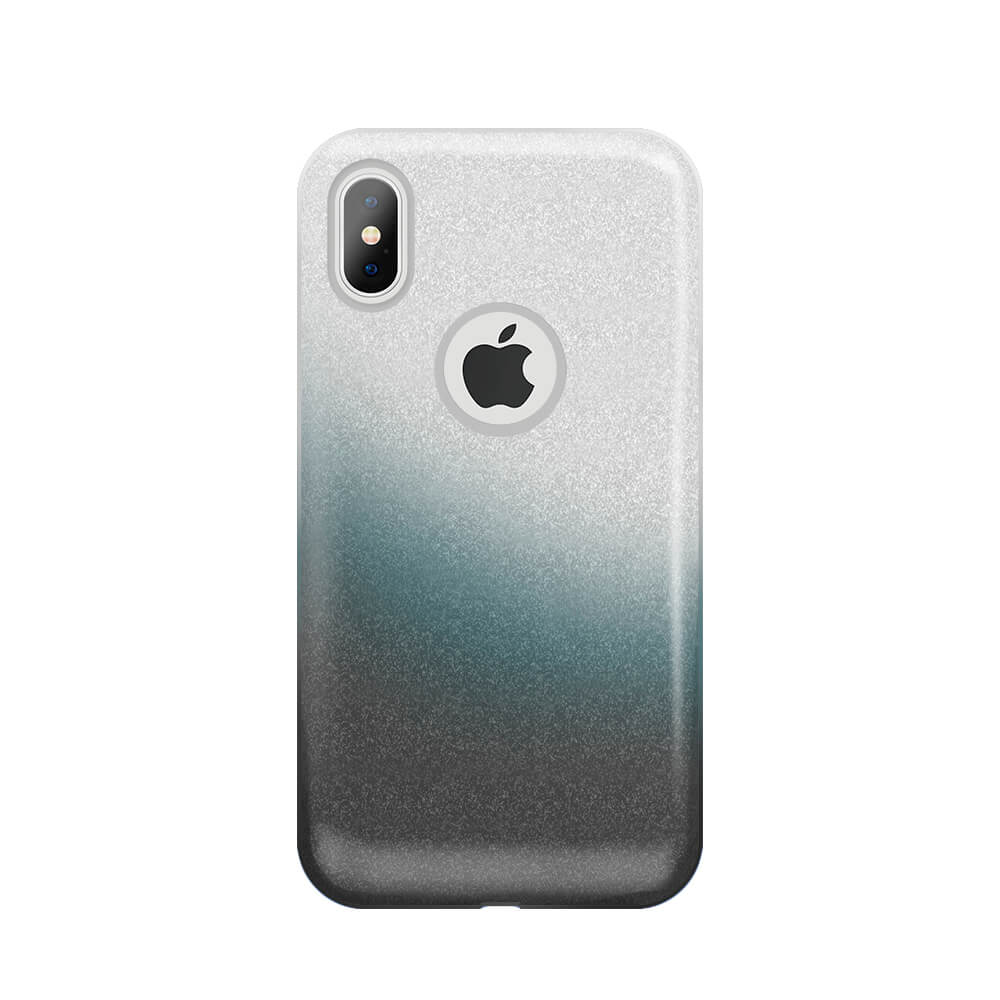 Samsung A30 / A20 Gradient Glitter 3 az 1-ben tok, füstös