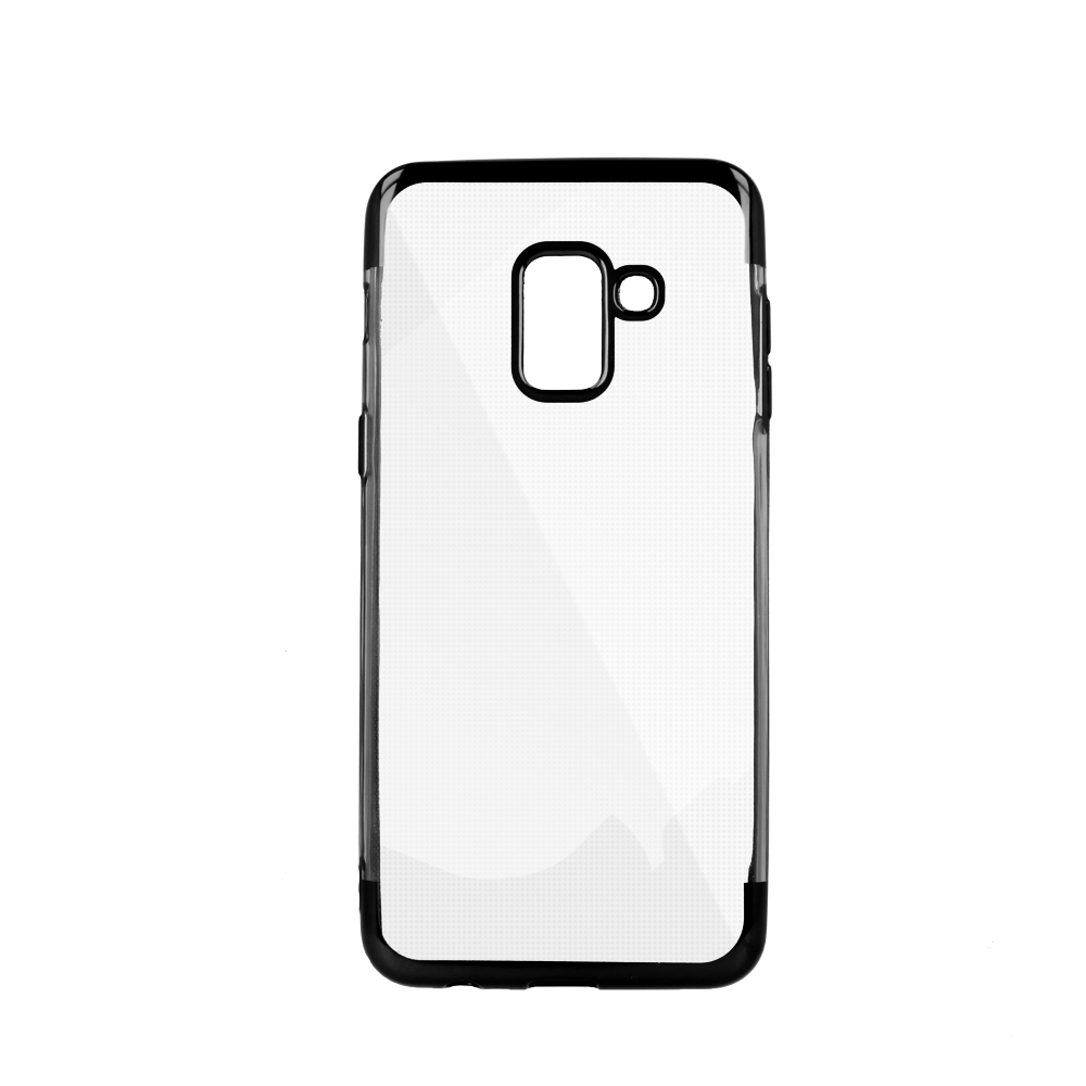 iPhone 6 Plus / iPhone 6s Plus erősített keretű puha TPU tok fekete