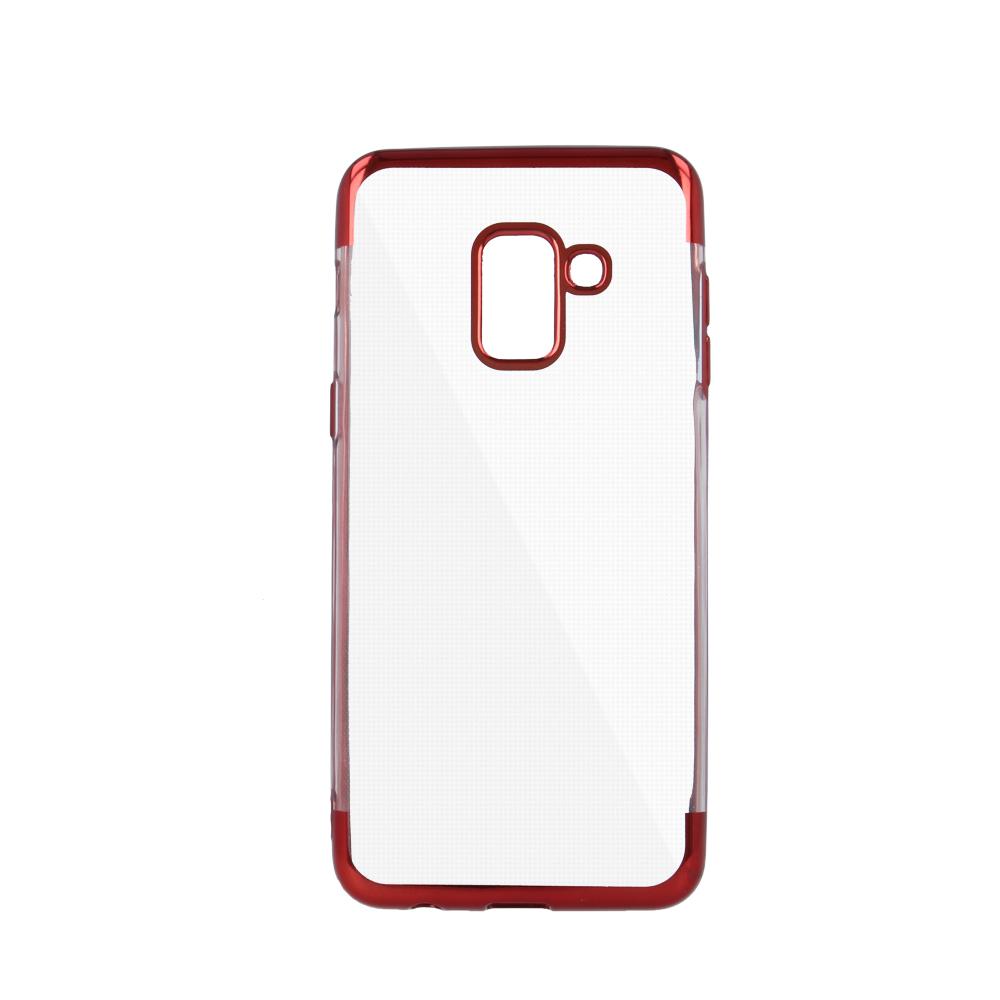 iPhone 6 Plus / iPhone 6s Plus erősített keretű puha TPU tok piros
