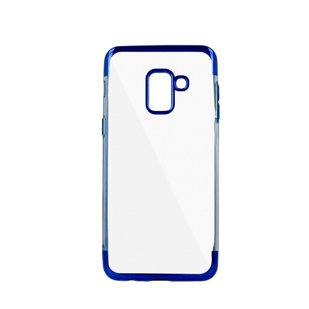 iPhone 7 Plus / iPhone 8 Plus erősített keretű puha TPU tok kék