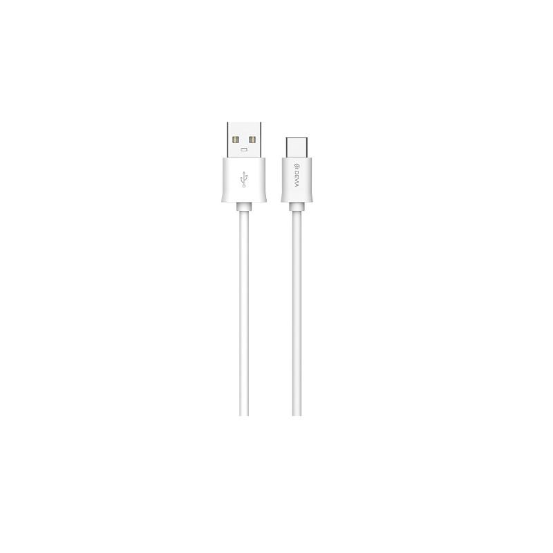Devia C-típusú USB kábel (2 m), fehér