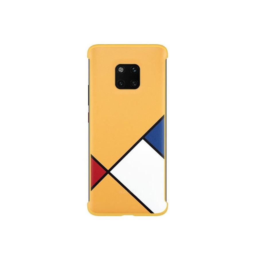 Huawei absztrakt művészet tok Mate 20 Pro -hoz sárga