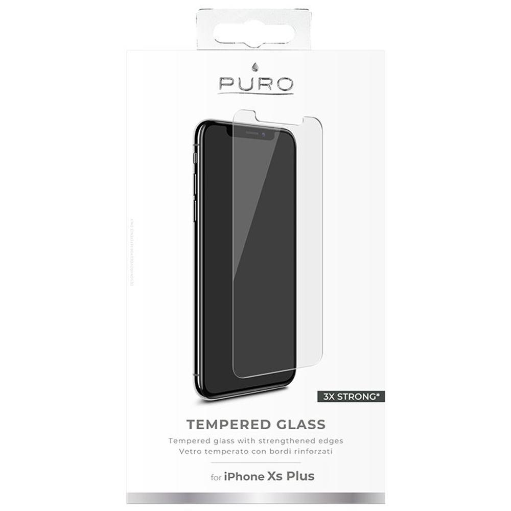 Puro képernyővédő prémium edzett üveg iPhone XS Max telefonhoz