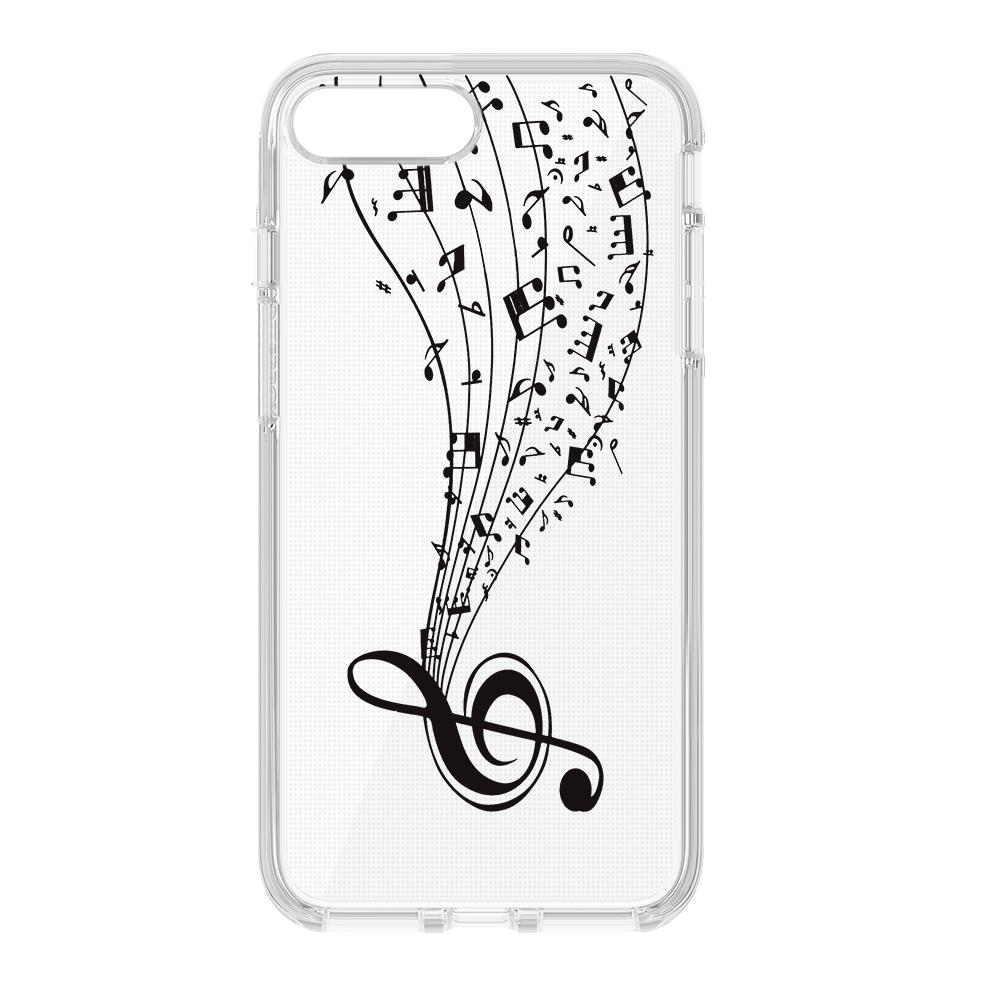 iPhone 6 Plus / iPhone 6s Plus ultra trendi tok violinkulcs motívummal