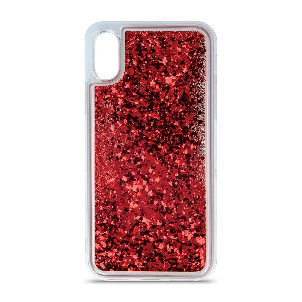 iPhone 6 Plus folyékony csillámos TPU tok4 piros