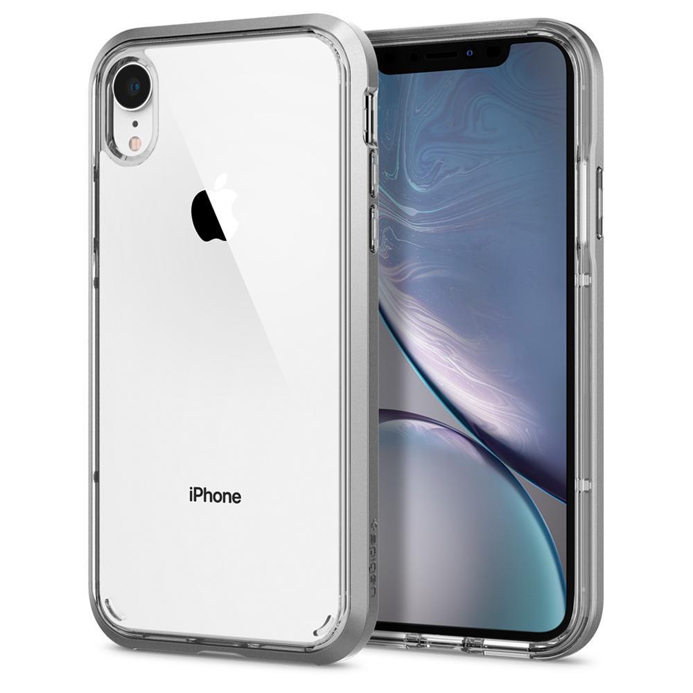 iPhone XR Spigen Neo Hybrid Crystal tok, szatén ezüst