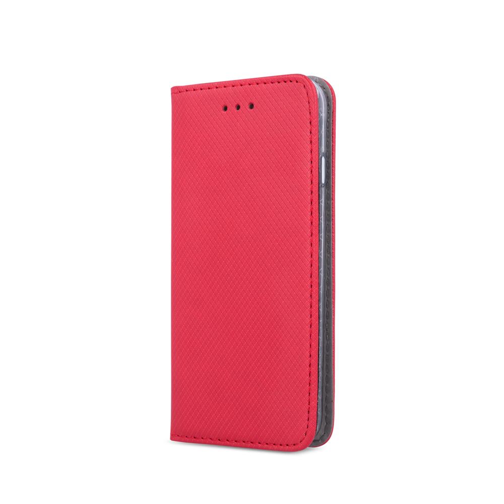Huawei Y7 2019 elegáns mágneses tok piros