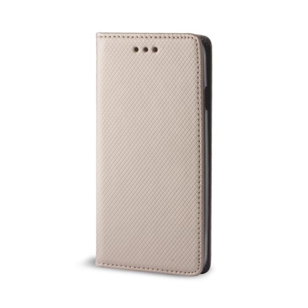 Samsung A40 elegáns mágneses tok arany