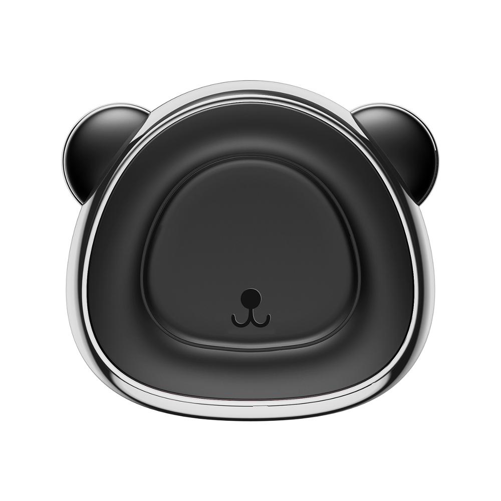 Baseus Bear mágneses autós telefontartó, ezüst-szürke