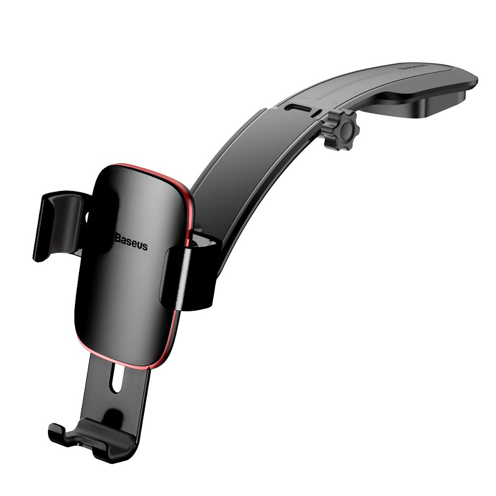 Baseus Metal Age műszerfalra rögzíthető autós telefontartó, fekete