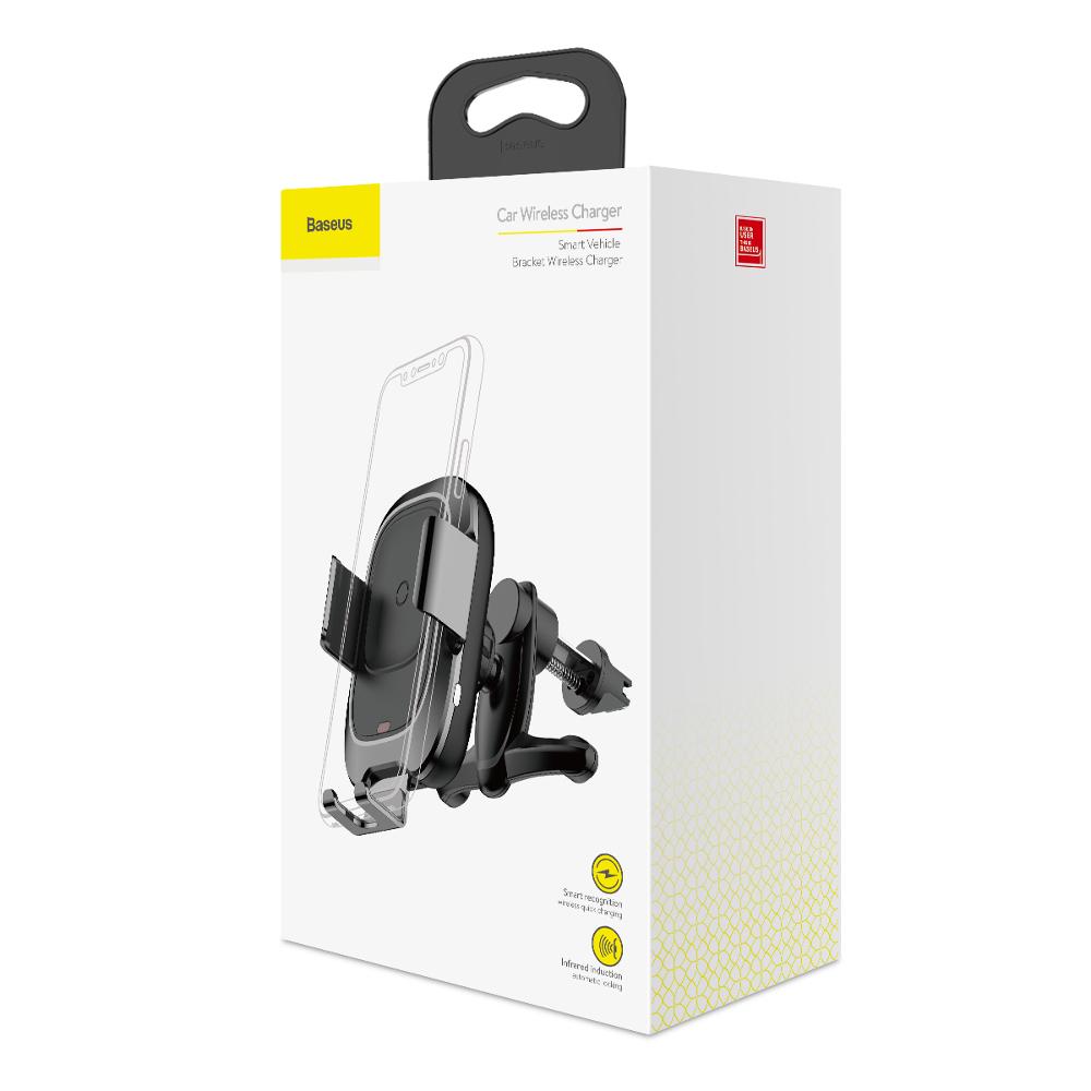 Baseus Smart autós telefontartó vezeték nélküli töltési funkcióval, (WXZN-01)