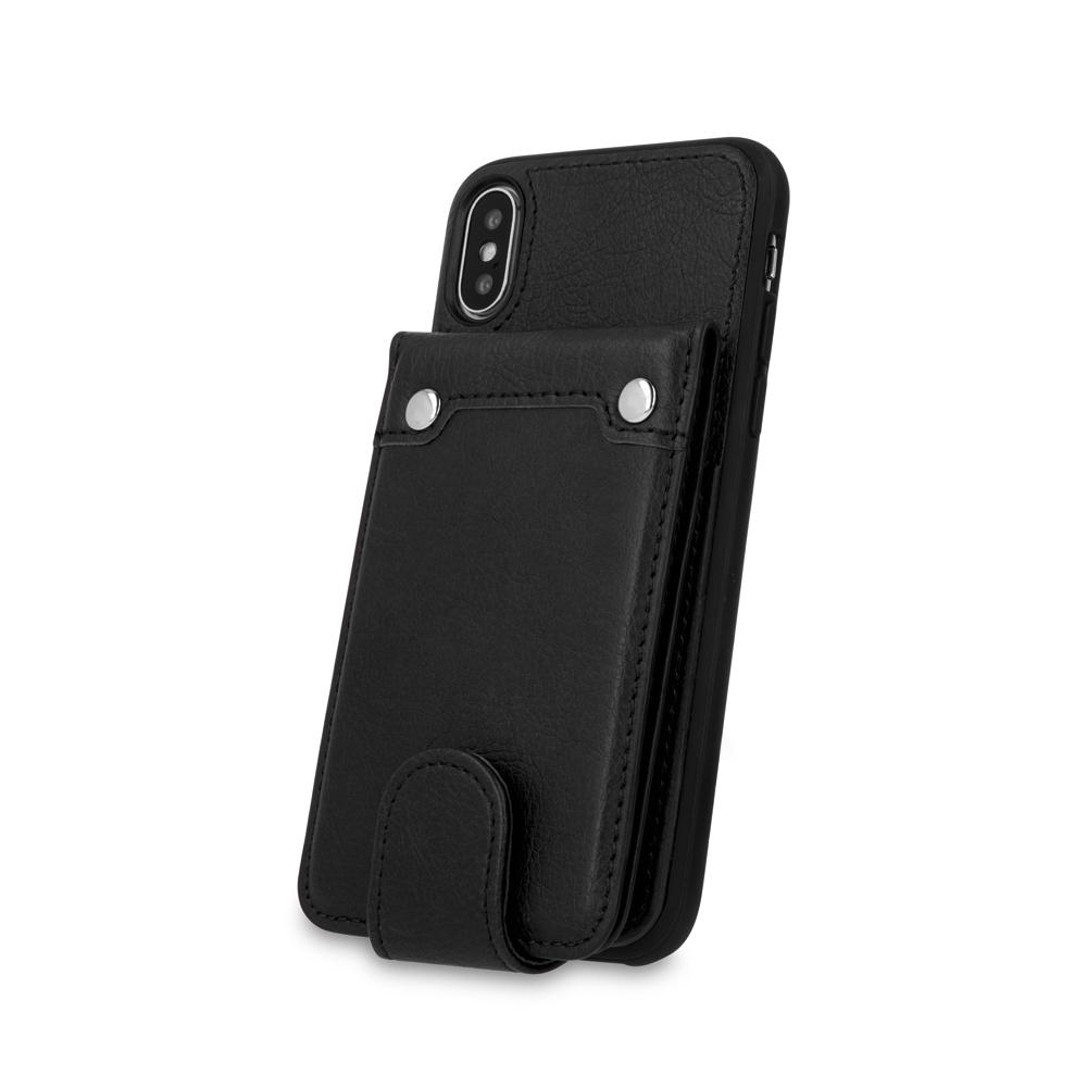 iPhone 6 Plus pénztárca tok fekete