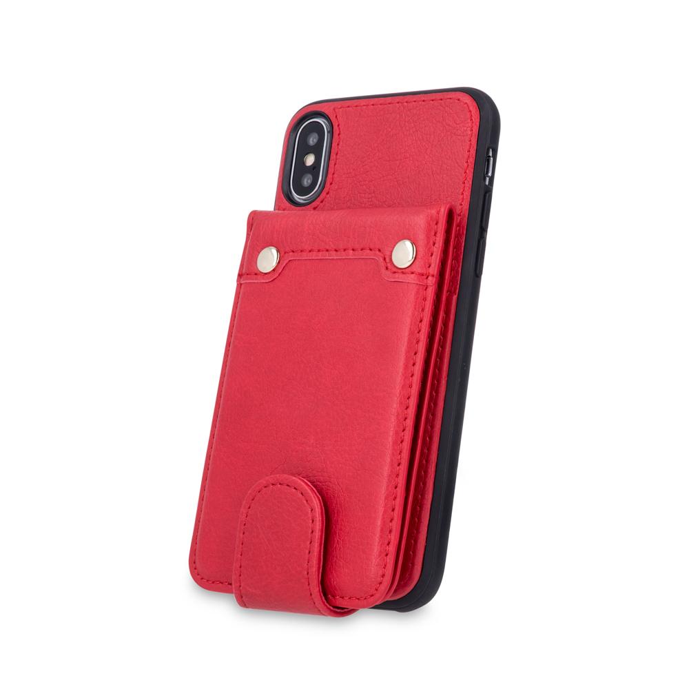Samsung S9 G960 pénztárca tok piros