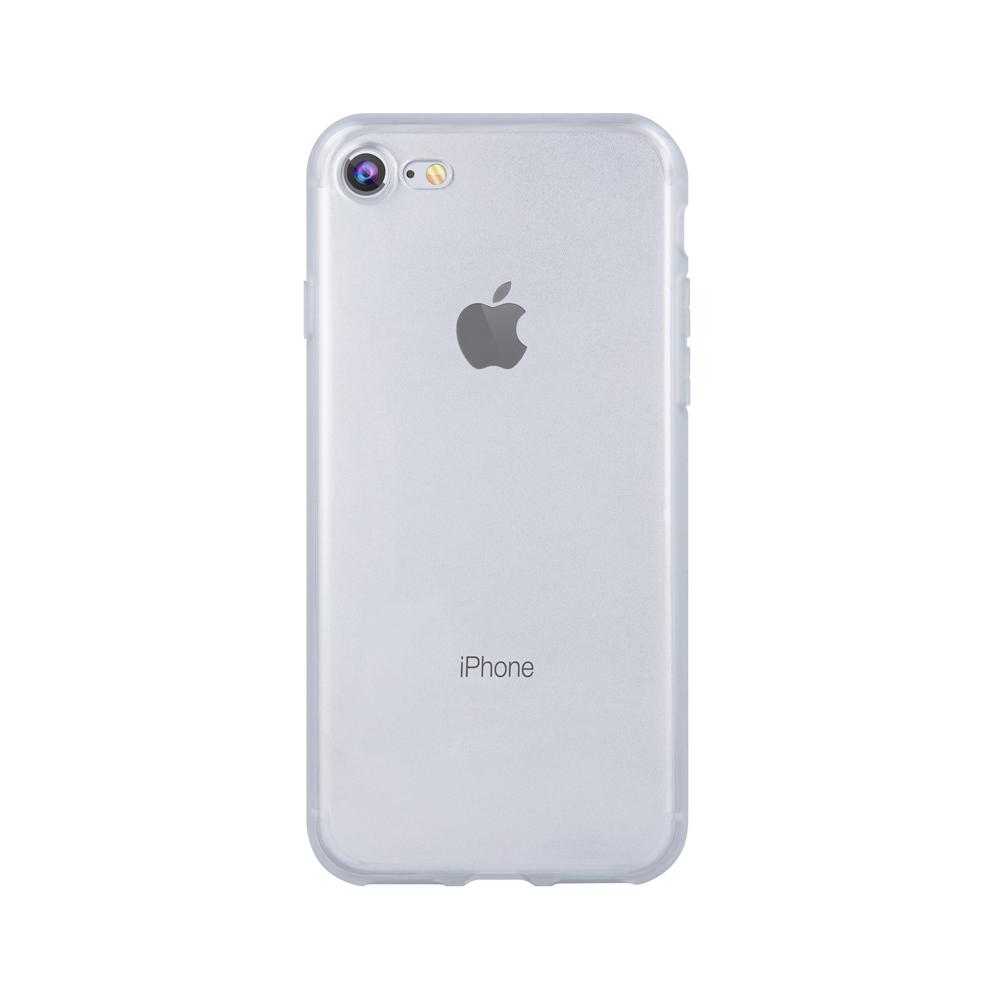 iPhone 6 Plus matt keretű TPU tok átlátszó