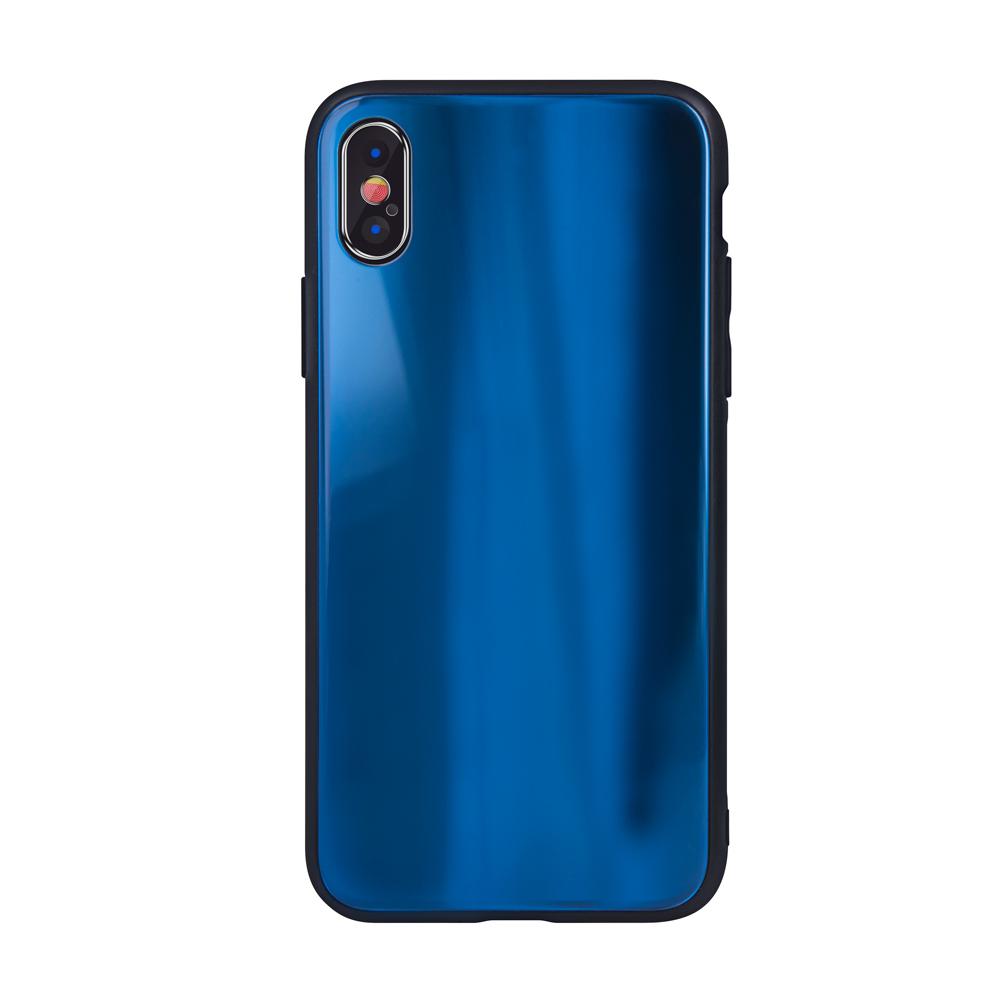 Aurora üveg tok Motorola Moto G7 Play sötétkék