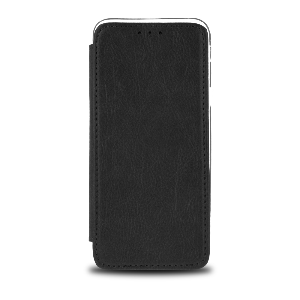 Samsung A70 okos műbőr tok fekete