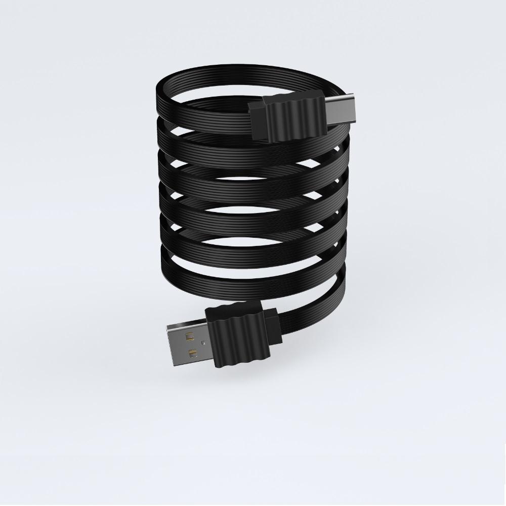 Devia C-típusú lapos kábel, fekete