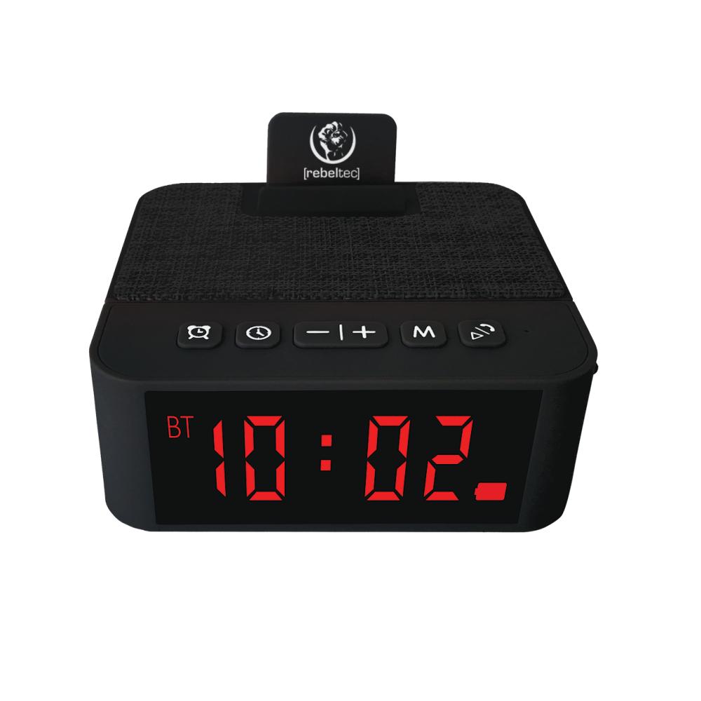 REBELTEC SoundClock 120 hangszóró riasztással, fekete