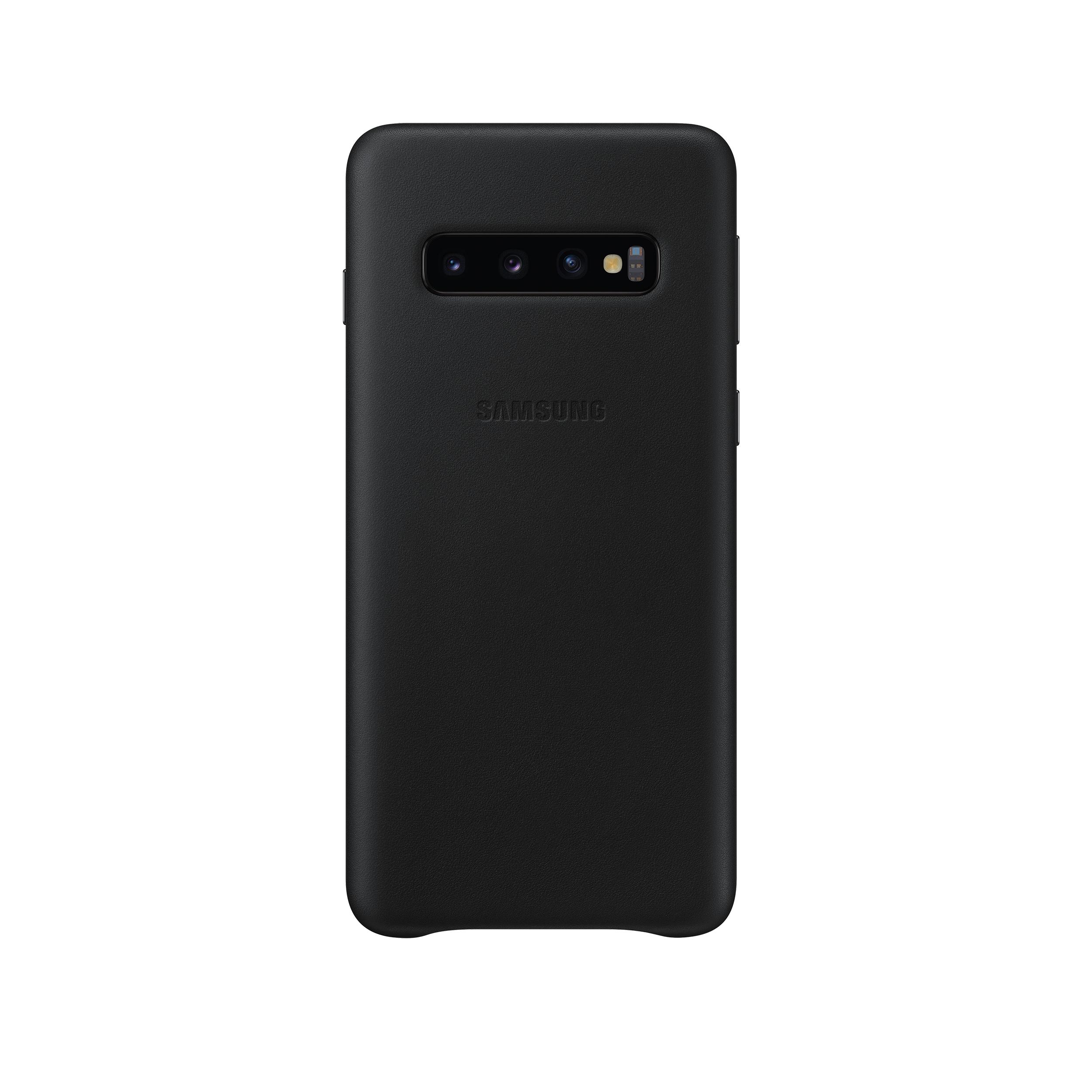 Samsung bőr tok Samsung S10 telefonhoz fekete