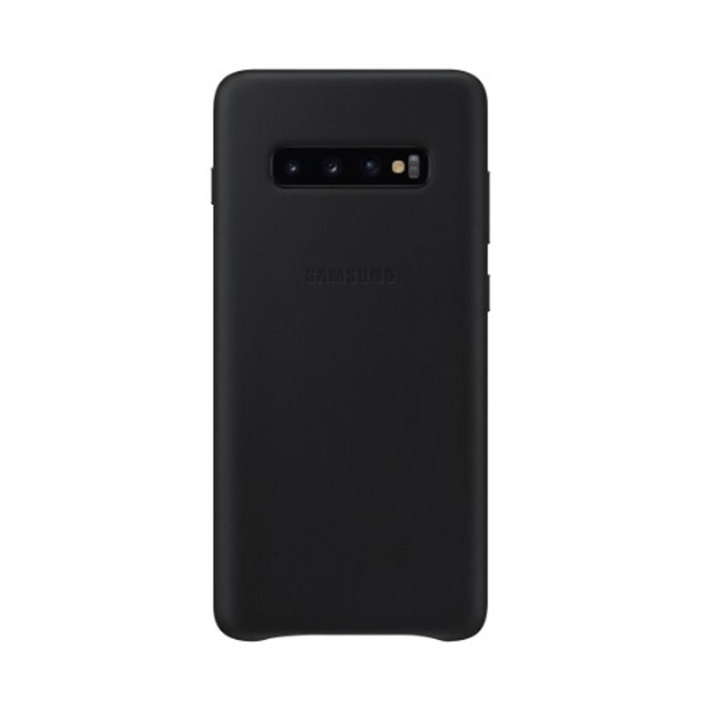 Samsung bőr tok Samsung S10 plus telefonhoz fekete