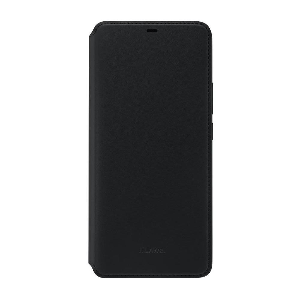 Huawei Mate 20 Pro Wallet flip tok, fekete