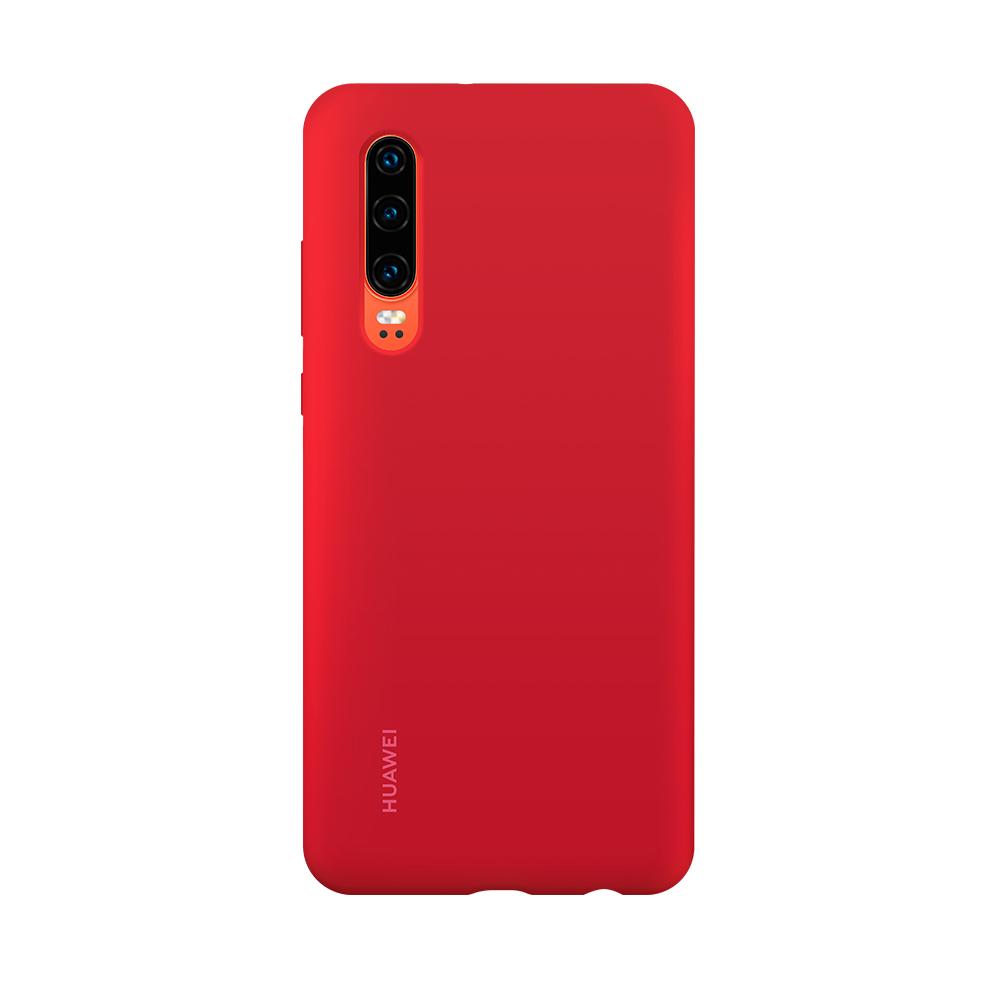 HUAWEI P30 Silicone tok, piros