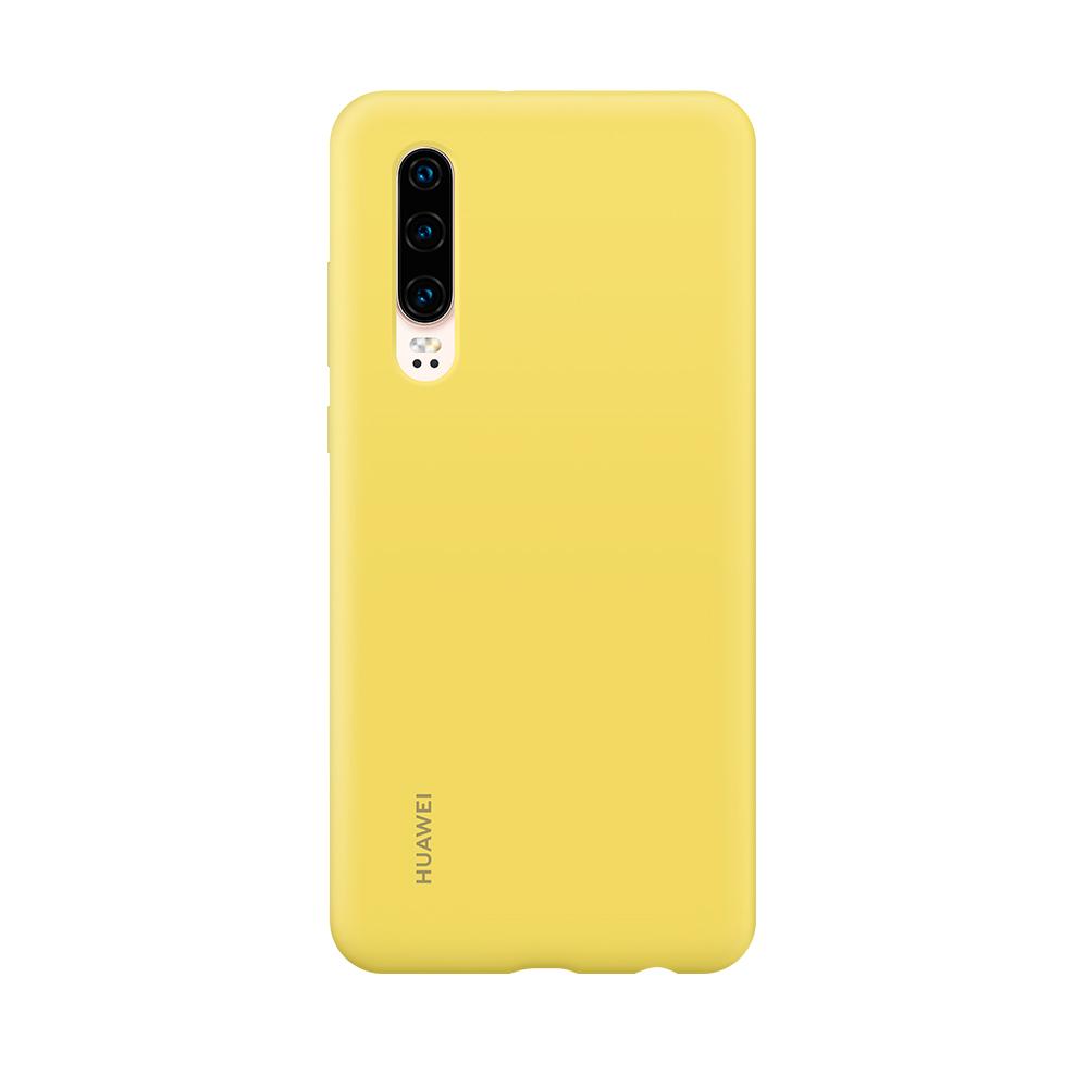 HUAWEI P30 Silicone tok, sárga