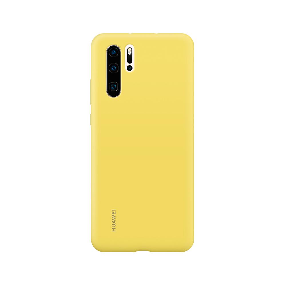 HUAWEI P30 Pro Silicone tok, sárga