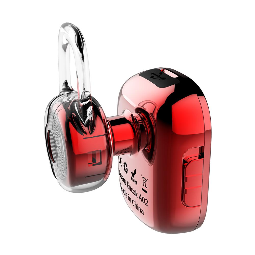 Baseus vezeték nélküli fülhallgató Encok Mini A02 piros