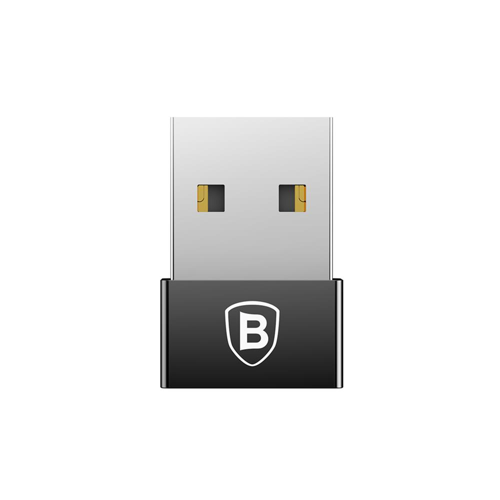 Baseus USB-A  USB type-C adapter fekete