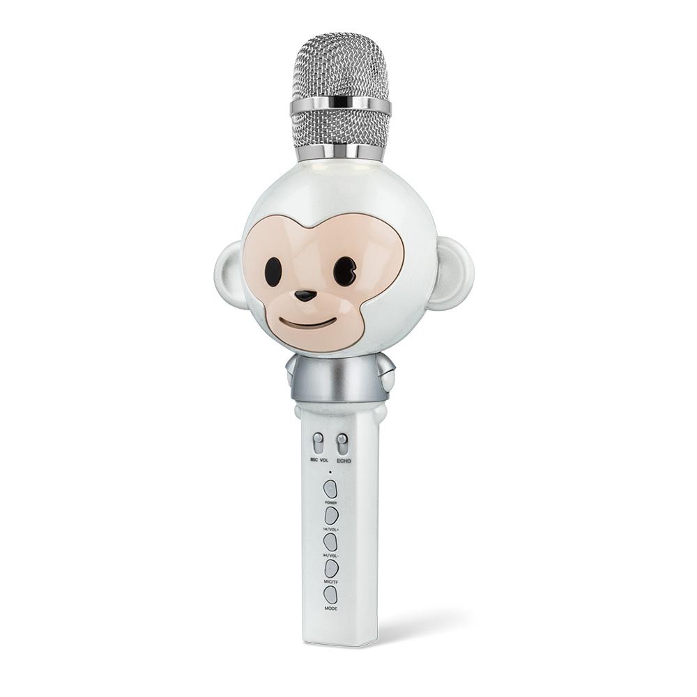 Forever AMS-100 mikrofon bluetooth hangszóróval Animal fehér