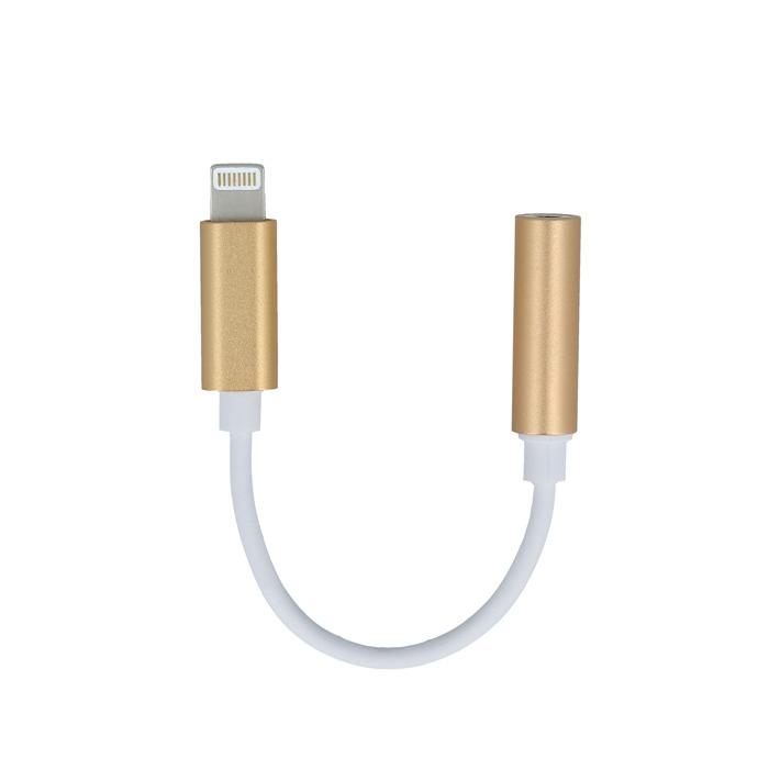 Lightning-audio jack 3,5 mm átalakító arany