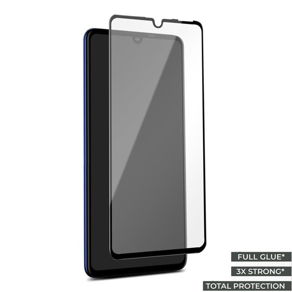 Huawei P30 Lite PURO edzett üveg képernyővédő, fekete keret